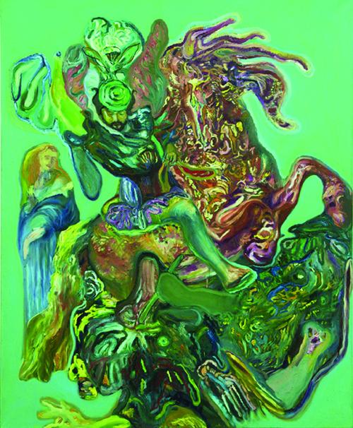 Drawing of St. George, olio su lino, 210x170cm, 2014.jpgweb