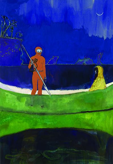 Peter Doig - Spearfishing, 2013, Olio su tela, 288x200cm.jpg CMYK