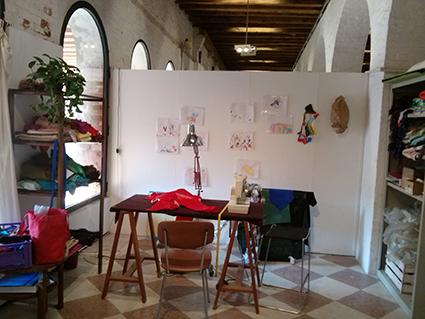 L'atelier di Miriam Secco alla Giudecca